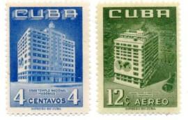 CUBA- 1956 - MINT - Templo Nacional Maçônico - Havana