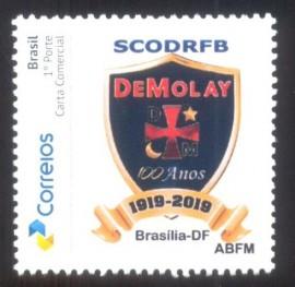 Brasil-2019 100 Anos da Ordem DeMolay - MINT