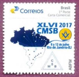 Brasil -2017-m[MINT -  XLVI AGO-CMSB -Rio de Janeiro - 2017