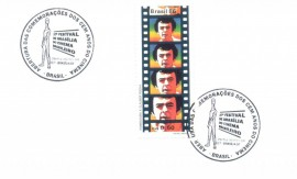 Brasília 1994 - 100 ANOS DO CINEMA  -FESTIVAL  DE BRASÍLIA DO CINEMA BRASILEIRO - Cartela Lançamento- CBC
