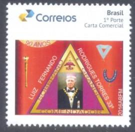 Brasil - 2016 - MINT -90º Aniversário  Luis Fernando Torres, S.G.C. -Supremo Conselho