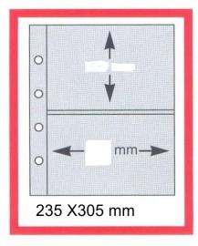 MINT-Procedência: Alemanha Leuchtturm - Pacote com 05 folhas  preto, 235 x 305 mm, 4 furos para blocos/ FDC etc... c/ 2 divisórias -Medida Interna da divisória: 21.5 cm x 15.00 cm
