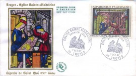 França -1967 - CBC  Troyes - Fr. - Vitraux  Igreja Santa Madalena  - Artesão