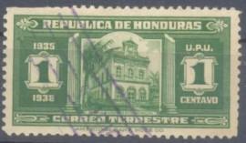 Honduras- 1935- Templo de Tegucigalpa- Usado.