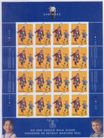 CANADAR - 2001-MINT- SHRINERS -MINI-  FOLHA COM 16 SELOS.