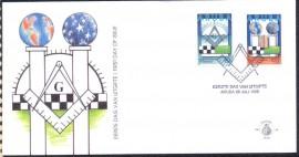 Aruba - 1998 - 75º Aniversário da Loja Maçônica