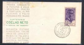 Brasil 1964-Centenário de Nascimento de Coelho Neto- CBC São Paulo-SP.