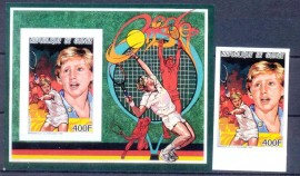 Republica do Guiné -1987- SELO+BLOCO-MINT- Boris Becker