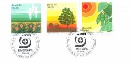 Brasília 1983- EMBRAPA 10 ANOS-  Cartela Lançamento- CBC