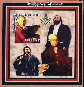 Moçambique -2002-  Homenagem a Wolfgang Mozart -  Imp.  - MINT