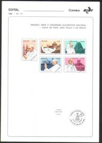 Brasil-Edital nº11 1980 - Papa João Paulo II - Congresso Eucarístico Nacional