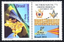 Brasil -2011-MINT- Capítulo Mutirão Social Nº 775 - Ordem DeMolay.