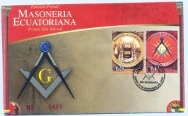 Equador - 2006 - Homenagem a Maçonaria Equatoriana.