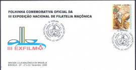 Cartolina - Brasil -2000 -  CBC Brasília-DF - Folhinha Filatélica Exposição