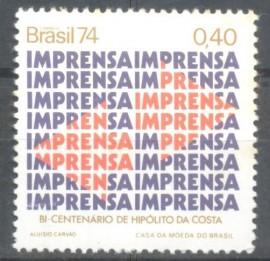 Brasil -  Centenário de Hipólito da Costa - Imprensa