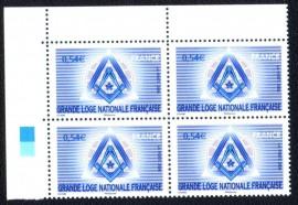 FRANÇA -2006 - QUADRA-MINT- GRANDE LOJA NACIONAL FRANCESA.