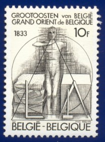BÉLGICA -  1982 - MINT  -Homenagem ao Grande Oriente da  Bélgica