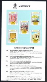 50 º aniversário, selos ocupação alemã - O Bailiado de Jersey é uma dependência da Coroa britânica na costa da Normandia, França. Bem como a própria ilha de Jersey, no reduto inclui dois grupos de pequenas ilhas que não são mais habitadas permanentemente, Minquiers e Écréhous eo Pierres de Lecq e outras rochas e recifes. Jersey eo Bailiwick de Guernsey são muitas vezes referidos como