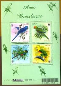 Brasil 2001 - Aves Brasileiras-Novo