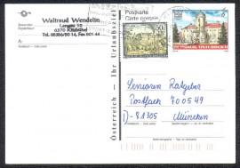 Áustria -  Pré-franqueado  - Circulado - Museu Maçônico - Castelo de Rosenau - AU.