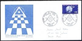 França -1973-FDC- CBC PARIS- 200 Anos do Grande Oriente da França.