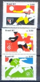 Brasil-  1987 -MINT - Times de Futebol-Correio Rural- Borboleta
