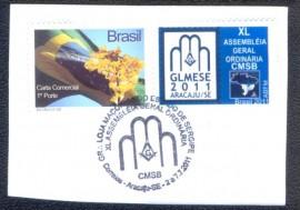 Brasil - XL CMSB - ARACAJU-SE - Sobre fragmento.