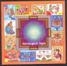 Índia 2010- Símbolos do Zodíaco - Boclo MINT.( em arte Indiana ) 16.0 x 16.0 cm
