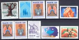 Brasil- 1976- 10 val. MINT