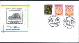 2005 -INTEREXPO2005 -CBC 16 A 22.10.2005 - Envelope Comemorativo - BRASIL/SANTO DOMINGO. 1ª Divulgação filatélica oficial da Ponte JK, Inaugurada em 15.12.2002.