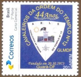 Brasil 2017- MINT- 44 Anos da Loja Cavaleiros  da Ordem do Templo- Brasília-DF