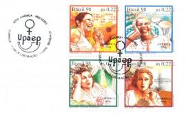 Brasília 1998 - UPAEP -SÉRIE AMÉRICA- MULHERES - Cartela Lançamento- CBC