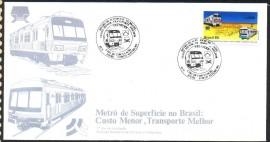 Brasil -1985 - Metrô de Superfície no Brasil - CBC Porto Alegre-RS