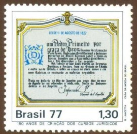 Brasil - 1977 - 150 Aniv. Cursso Jurídicos - Novo