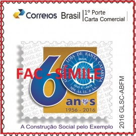 Personalizado- 2016-MINT- Grande Loja de Santa Catarina - 60 ANOS