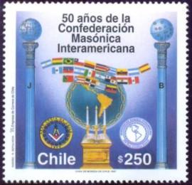 Chile - 1997- MINT - 50 Anos da CMI