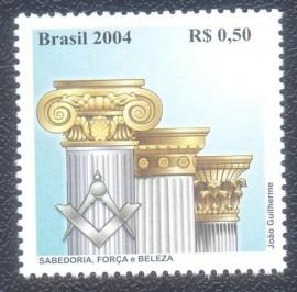 Brasil -2004- MINT - Homenagem a Maonaria -COLUNAS