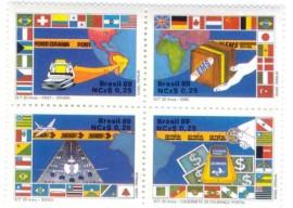 Brasil - 1989 -MINT - Quadra