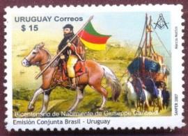 Uruguay -2007- MINT- Garibaldi -Bicentenário de Nascimento -Emissão Conjunta Brasil-Uruguay