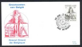 Bélgica - 150 Anos do  Grande Oriente  Belga - CBC Antuérpia