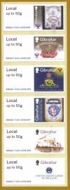 Gibraltar 2017 - Série de 6 selos MINT   250 Anos da Loja de São João-Gibraltar  100 Anos da  União das Lojas   300 Anos da Grande Loja Unida da Inglaterra