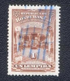 Honduras- 1-1949 - Interior do Templo de Tegucigalpa