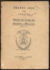 Brasil -1943 - Ritual do Grau de Mestre Maçom -Autenticado com selo de circulação interna-  Bom estado de conservação- Marca de Traças.
