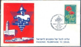 Israel -1959 - CBC:  Peregrinação Maçônica  para  Israel - Jerusalém.