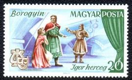 """Hungria -1967 -MINT -  Óperas - Alexander Borodin - """"O Príncipe Igor"""""""