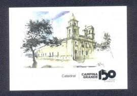 Cartão Postal comemorativo aos 150 anos da Cidade de Campina Grande -PB. Pré-pago, CBC 11.10 a 10.11.2014