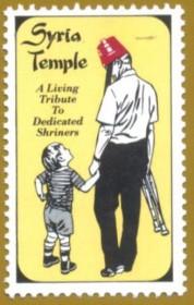 Syria Temple- uma homenagem dedicada  aos Shriners. - Cinderela tipo A com picotes .