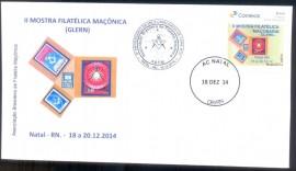 Brasil - II MOFILMA - MOstra Filatélica Maçônica (GLERN)