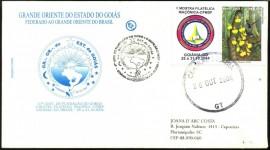 BRASIL -2004-  47 ANOS DO GOEGO E II MOFILMA-MOSTRA FILATÉLICA MAçÕNICA -CFMDF (ABFM) - CBC-GOIÂNIA-GO