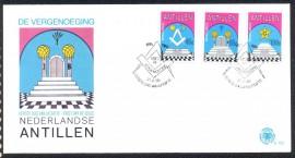 Antilhas Holandesas -1985 - 200 Anos  da Loja De Vergenoeging